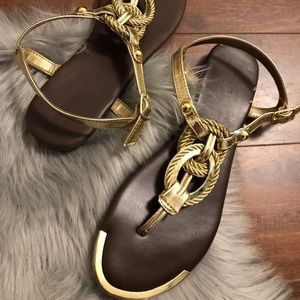 Gold Mossimo sandals